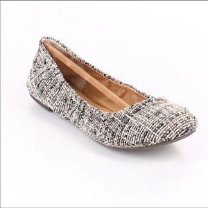 Lucky Brand Tweed Fabric Emmie Flats